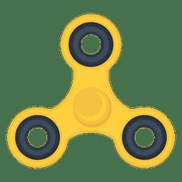 Ilustração de girador de três atirador