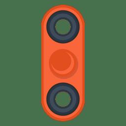 Ilustração de girador de dois atirador