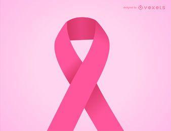 Ilustración de cinta rosa de cáncer de mama