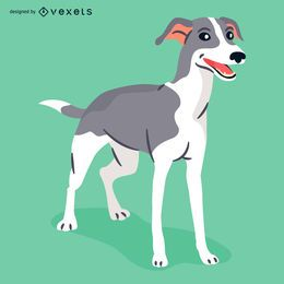 Greyhound dog illustration