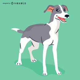 Ilustração do cão galgo