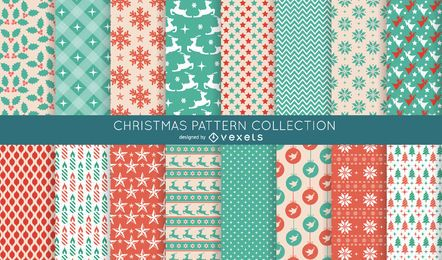 16 seamless Christmas pattern collection