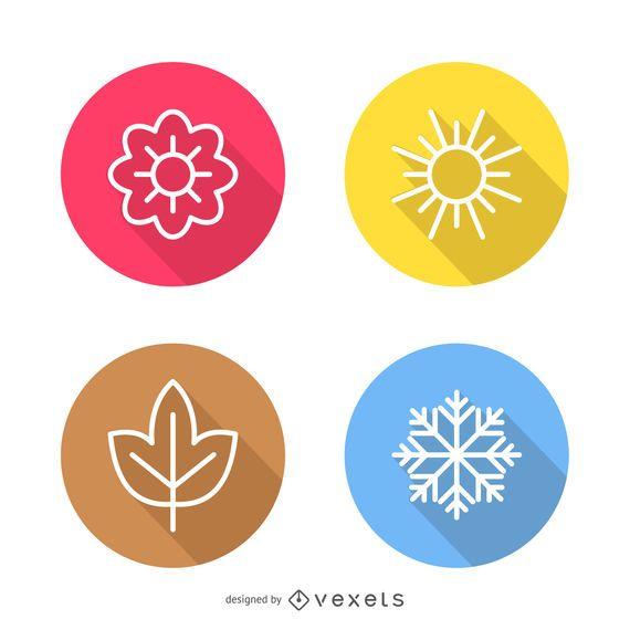 Iconos de la temporada del tiempo