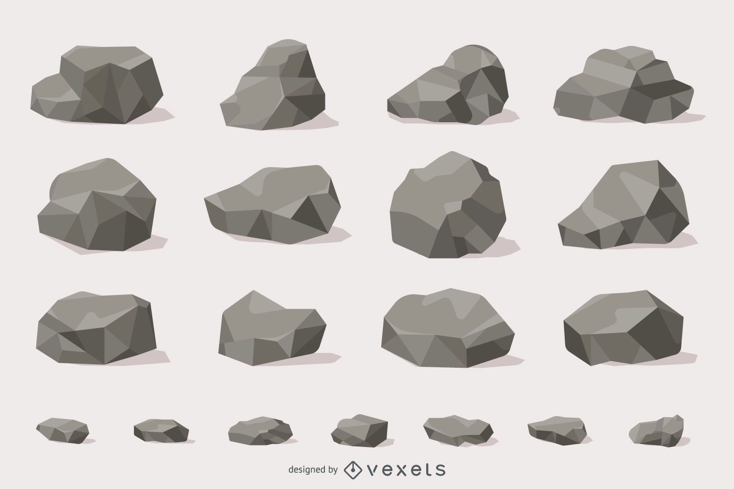Rocks and stones illustration collection