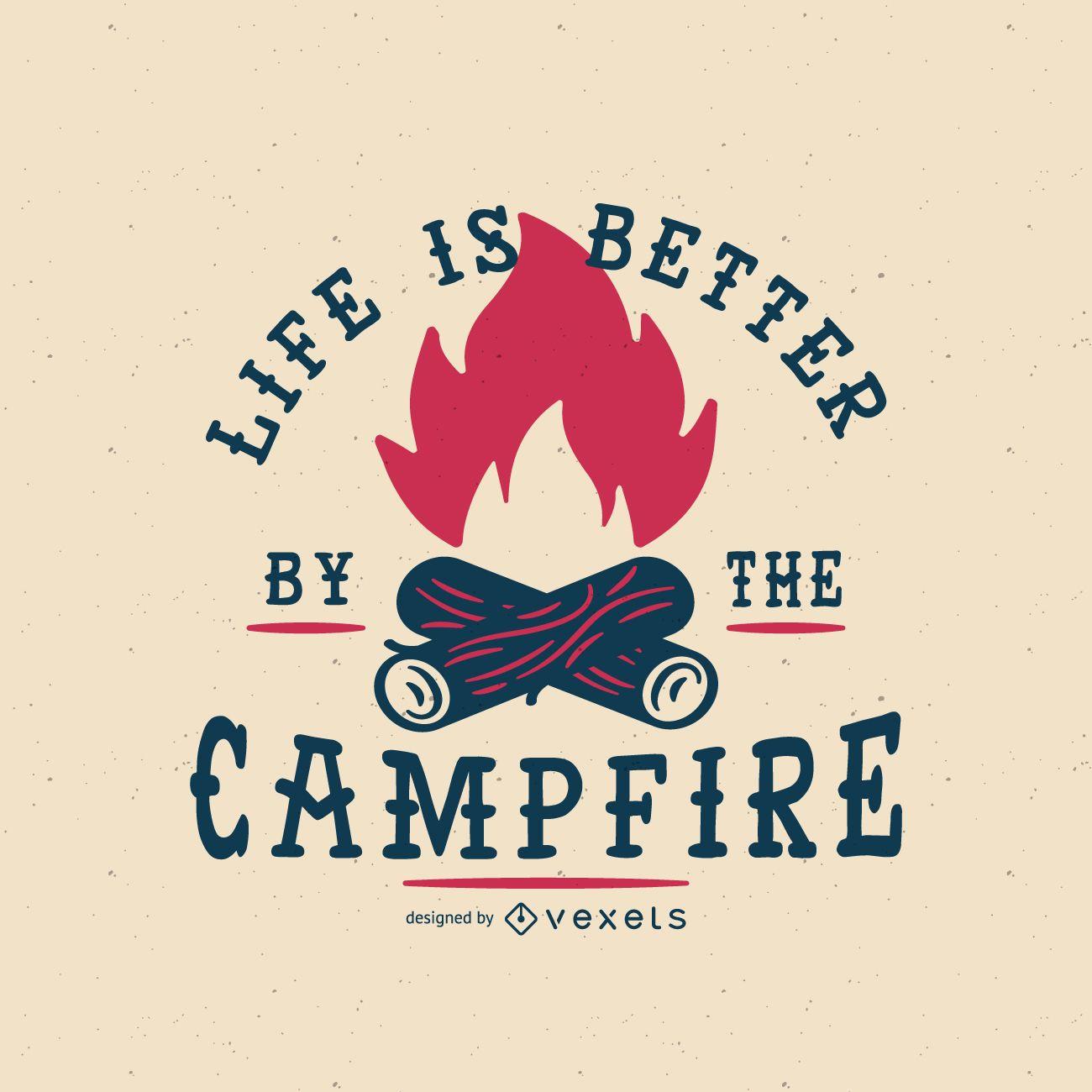 Emblema da fogueira hipster