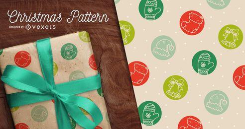 Cute patrón de Navidad transparente