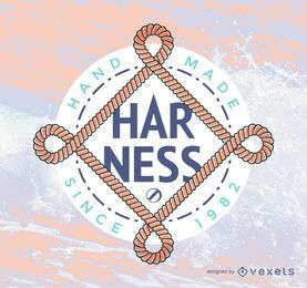 Hipster logo template with ropes
