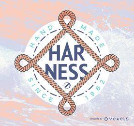 Plantilla de logotipo de hipster con cuerdas