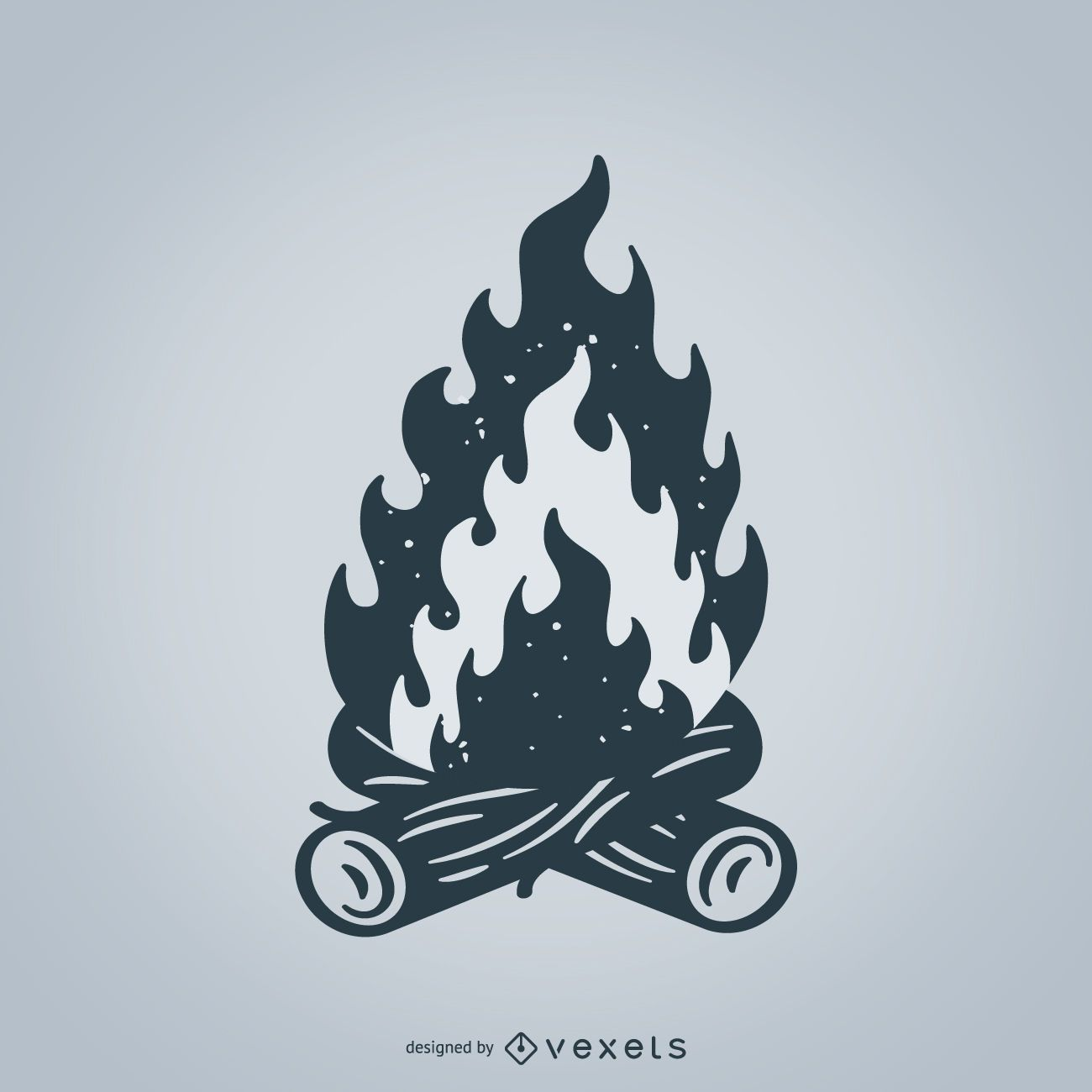Ilustração isolada da fogueira
