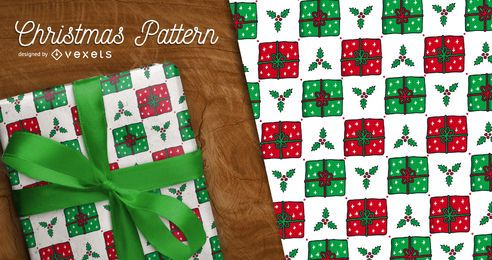 Christmas mistletoe pattern background