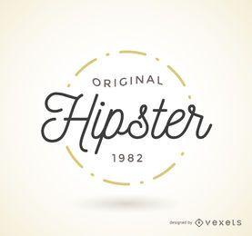 Modelo de crachá de logotipo hipster