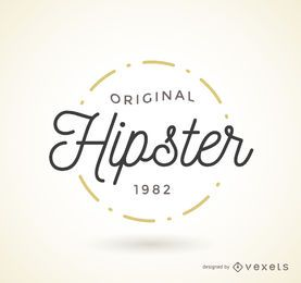 Plantilla de la insignia del logotipo de Hipster
