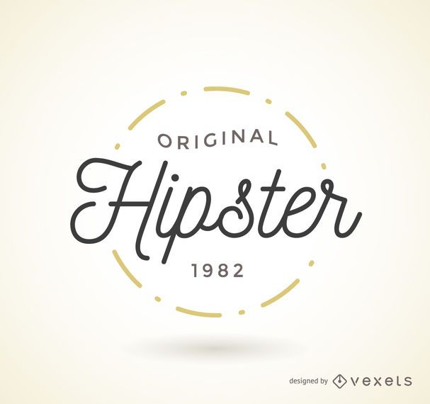 hipster logo badge template vector download