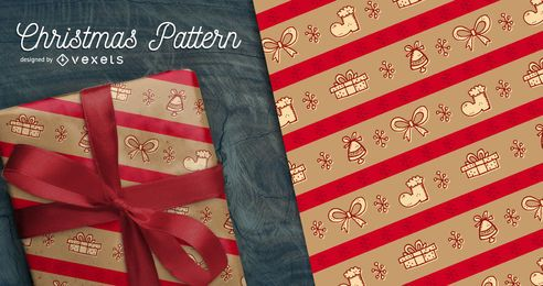 Festive Christmas seamless pattern