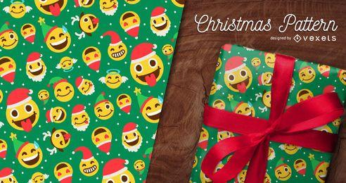 Nahtloses Emoji Weihnachtsmuster