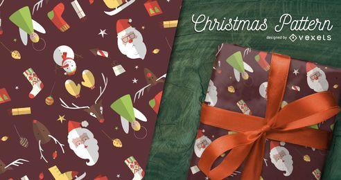 Design de padrão de ilustrações de Natal