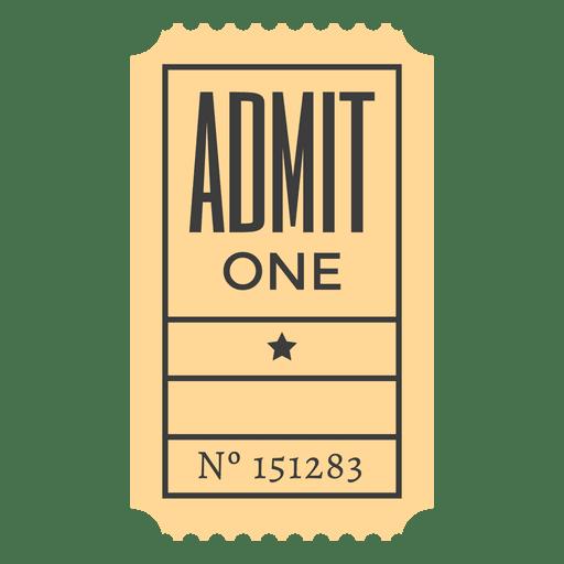 Boleto de admisión Transparent PNG