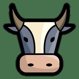 Cabeza de toro enojado