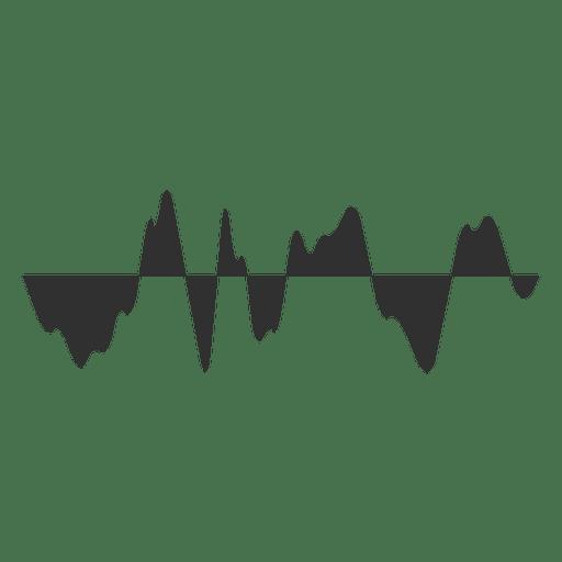 Icono de onda de audio Transparent PNG