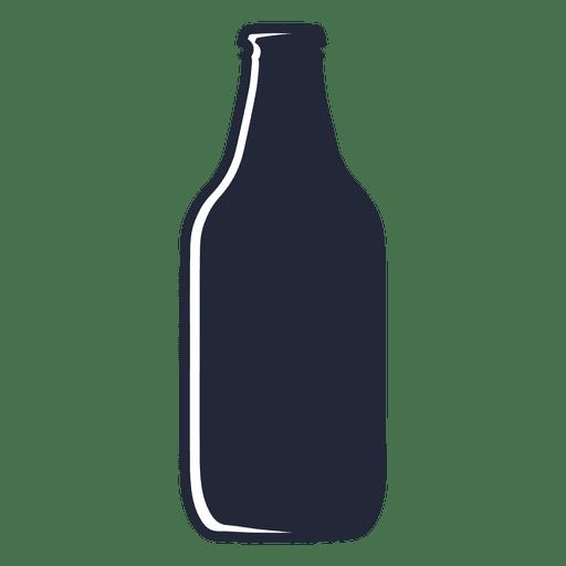 Bier Steinie Flasche Silhouette Transparent PNG