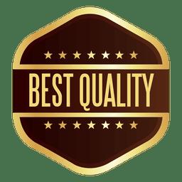 Insignia de la mejor calidad