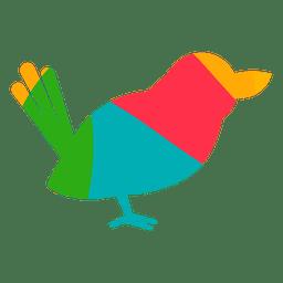 Color abstracto de pájaro