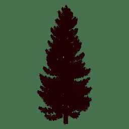 Silhueta de pinheiro negro