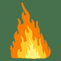 Desenhos animados de fogo ardente