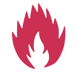 Blazing fire silhouette