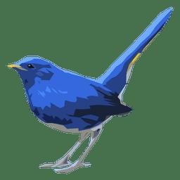 Ilustração do pássaro do redstart azul