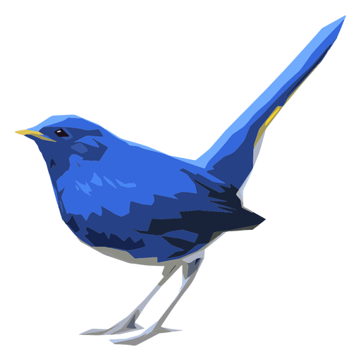 Blaue Rotschwänzchenvogelillustration Transparent PNG