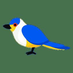 Ilustración de teta azul