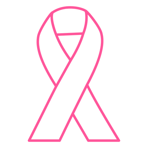 Breast cancer stroke ribbon
