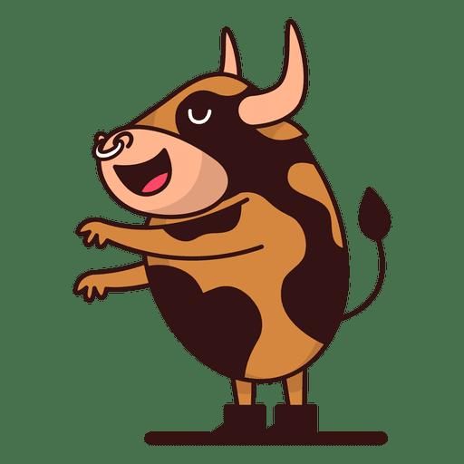 Dibujos animados de pie de toro