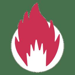 Silueta de fuego ardiente