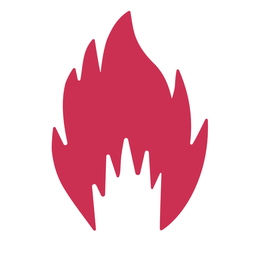 Burning fire silhouette Transparent PNG