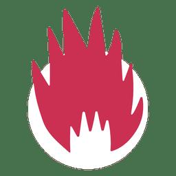 Símbolo de fuego ardiente