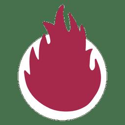 Vector de fuego ardiente