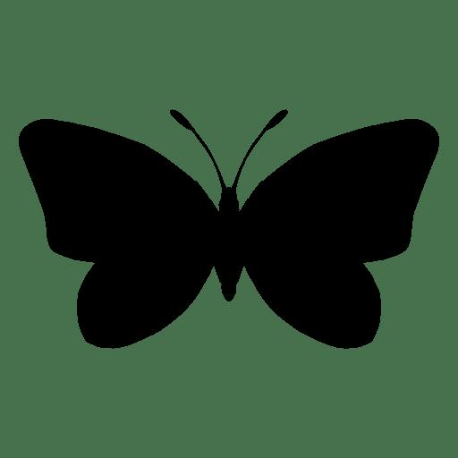 Silhueta de borboleta Transparent PNG