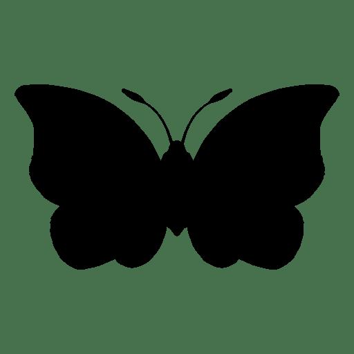 Mariposa silueta vector Transparent PNG