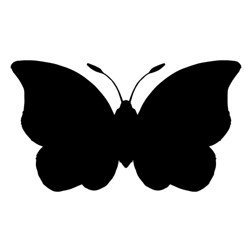 Schmetterlingsschattenbild-Vektor Transparent PNG