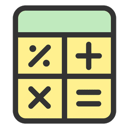 Calculator stroke icon