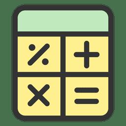 Icono de trazo de calculadora