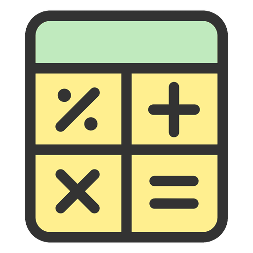 Calculator stroke icon Transparent PNG