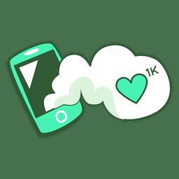Mobiltelefon 1k post mag