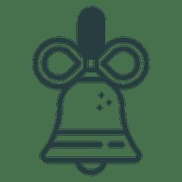 Icono de la campana de Navidad