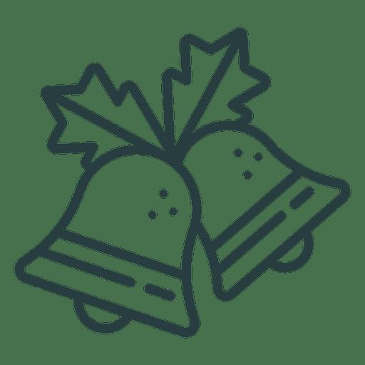 Icono de campanas de navidad icono de navidad Transparent PNG