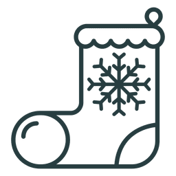 Christmas boot icon