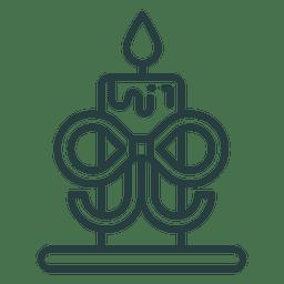 Icono de vela de navidad