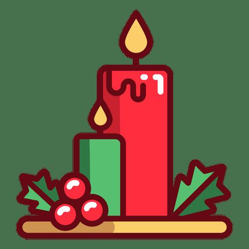 Ícone de velas de Natal Transparent PNG